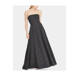 Ralph Lauren Womens Strapless Long Dress
